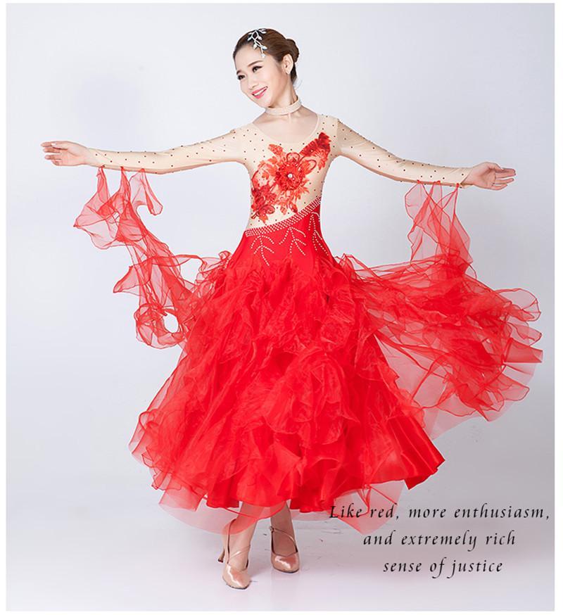 2017 moderne tanzkleid frauen diamant stickerei Walzer Tango Foxtrot quickstep kostüm wettbewerb kleidung standard ballroom dance rock 03