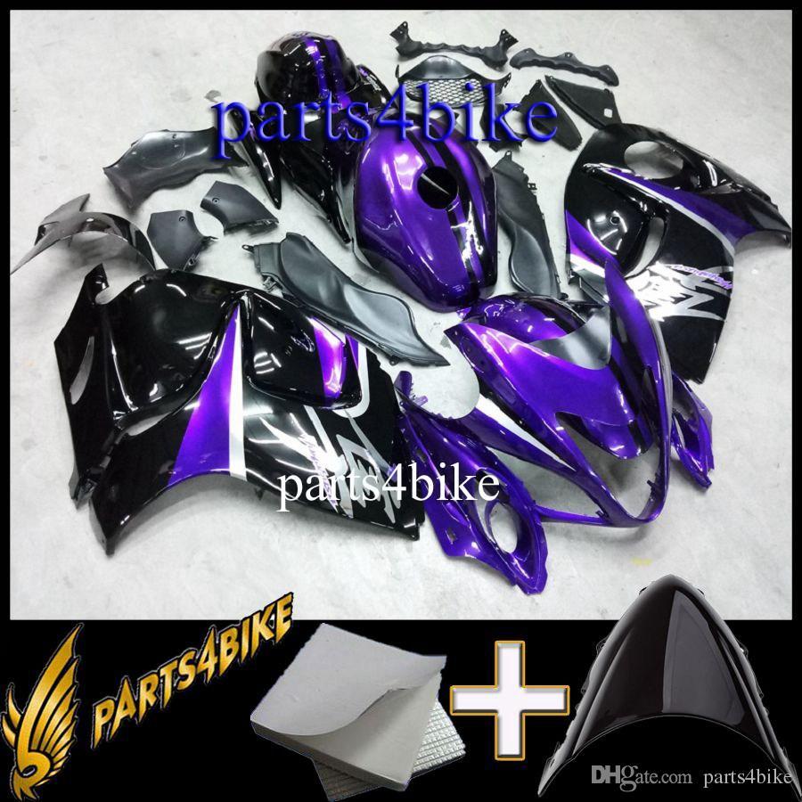 ABS обтекатель для Suzuki GSXR1300 08 10 GSX-R1300 2008-2010 08 09 10 черный фиолетовый мотоцикл тела послепродажного пластика