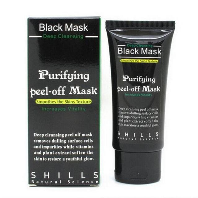 Blackhead Remover Pore Cleaner Facial Mask Purifying Peel Off Black Mud Face black Mask Deep Cleansing 50ml 2pcs