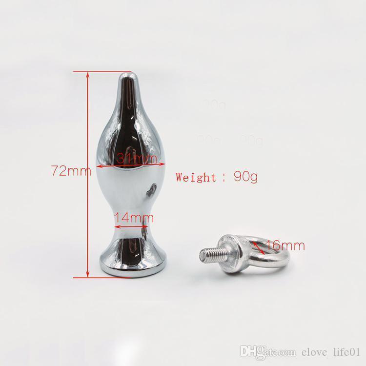 S, M, L 3 Taille métal butt plug anal bouchon avec anneau de traction perles anales jouets érotiques sex toys anal pour les couples jeux adultes