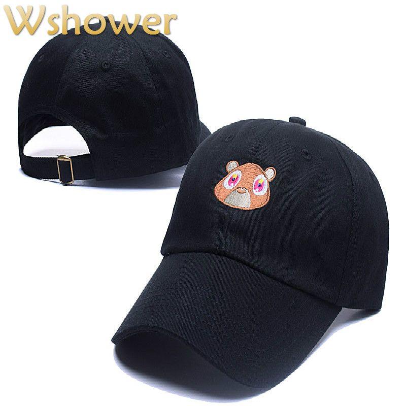 2019 Wholesale Black Pink Tan Kanye West Graduation College Dropout Bear  Dad Hat Cap Never Not Weird Baseball Cap Hip Hop Summer Snapback Hat From  Vanesse c9ddc361e7d