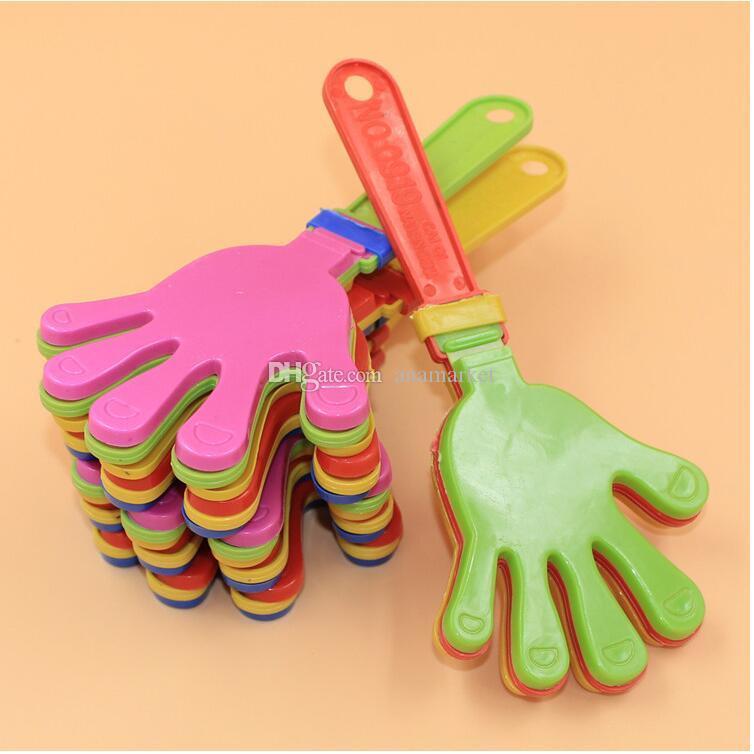 Горячая распродажа пластиковые хлопушка для рук хлопать игрушка развеселить ведущий хлоп для олимпийской игры в футбол производитель шума ребенок малыш игрушка для домашних животных