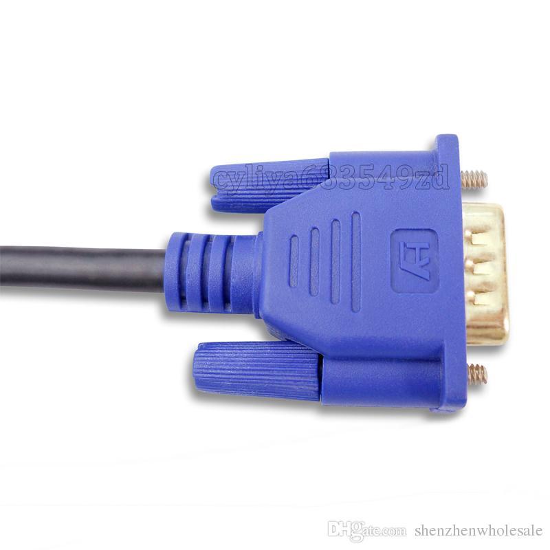 Wholesale 1.8M HDMI Male to SVGA VGA M Converter A/V Cable Lead