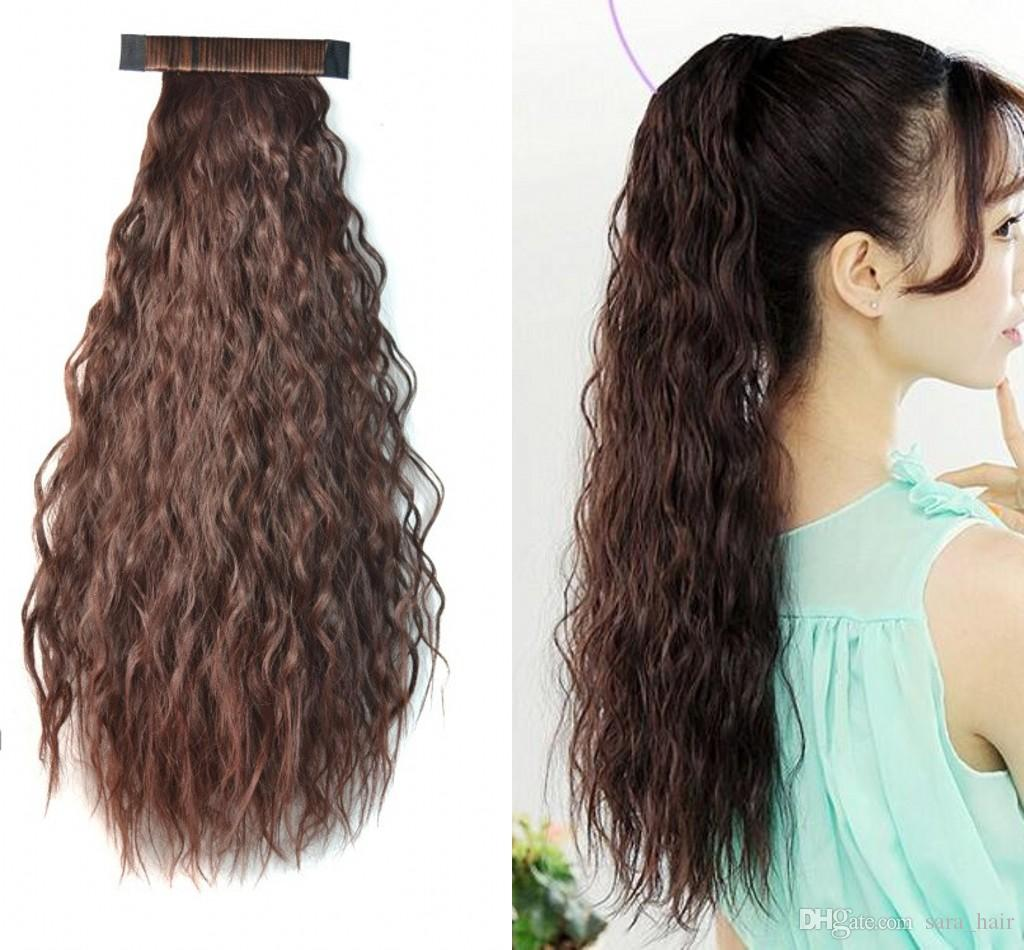 """Sara Women's & Girls Ponytails Pat Circle Kinky Curly Ponytail 55cm,22"""" Clip in Hair Extension Pony Tail Ponytail Synthetic Hairpiece"""
