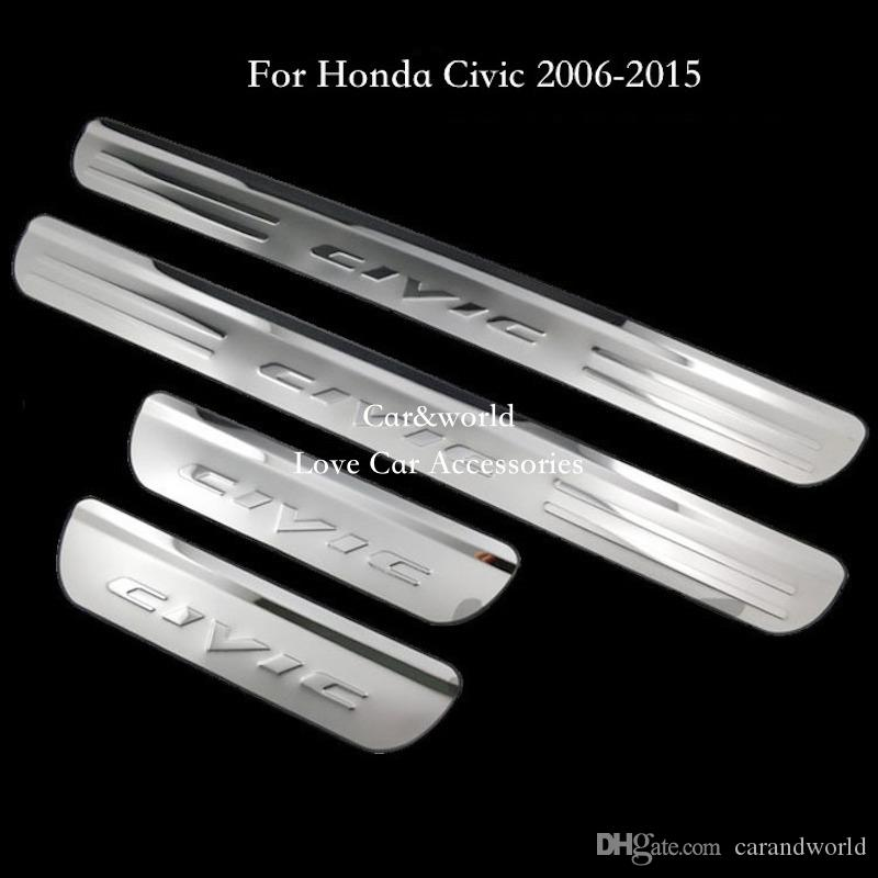 Compre Para 2006 2007 2014 2015 Honda Civic Door Sill Plate ...
