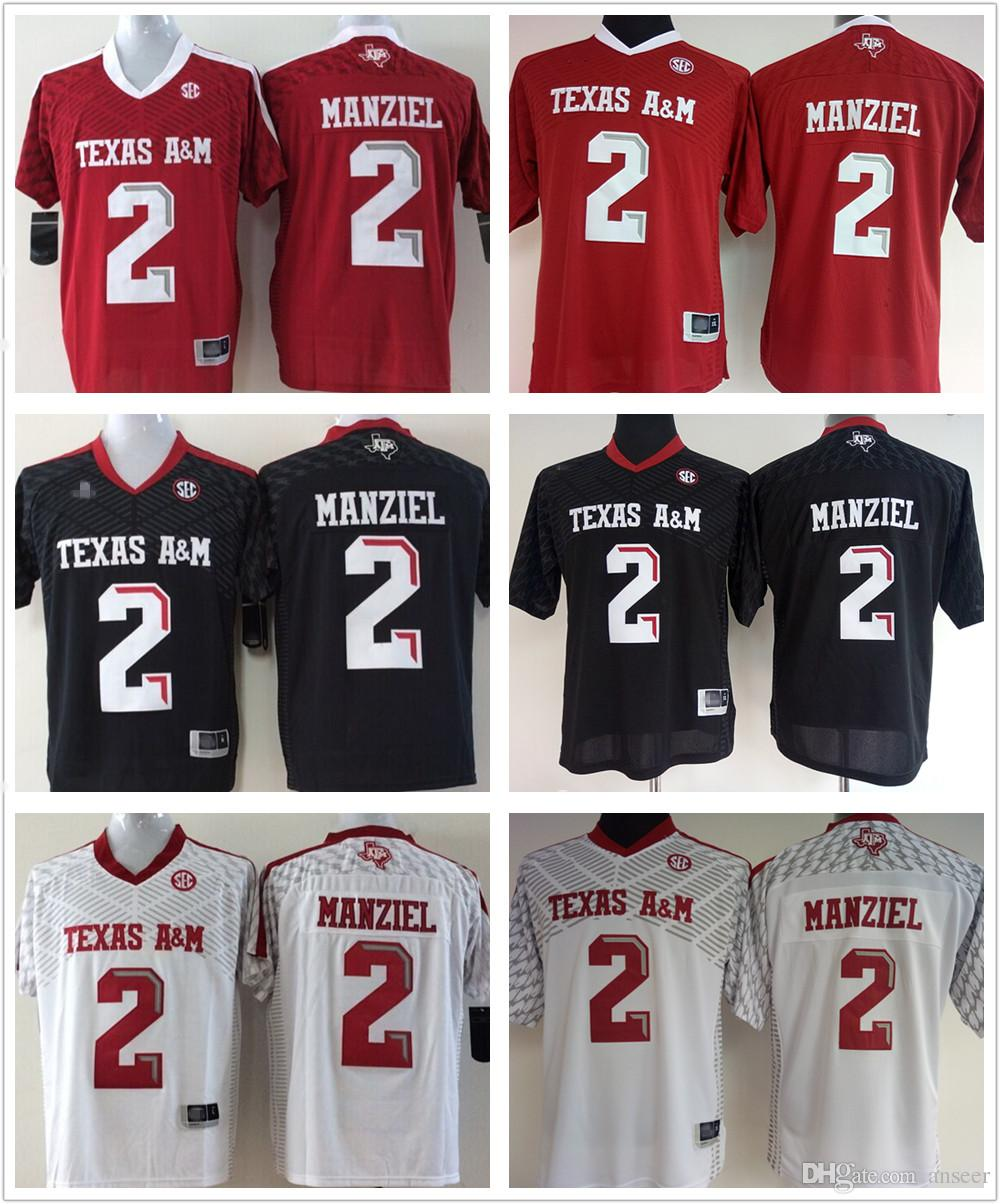 b65451bcd8a Jersey Youth and Women Texas AM Aggies 2 Johnny Manziel Maroon Red White .