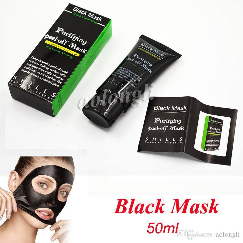 Sıcak Satış 50 ml SHILLS Derin Temizleyici arındırıcı soyulabilir Siyah çamur Facail yüz maskesi Kaldır siyah nokta yüz maskesi Pürüzsüz Cilt Shill ...