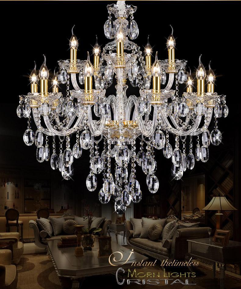 Light Chandelier Modern crystal Large chandeliers Luxury Modern Chandelier Lighting fashion Luxury Gold transparent K9 Crystal
