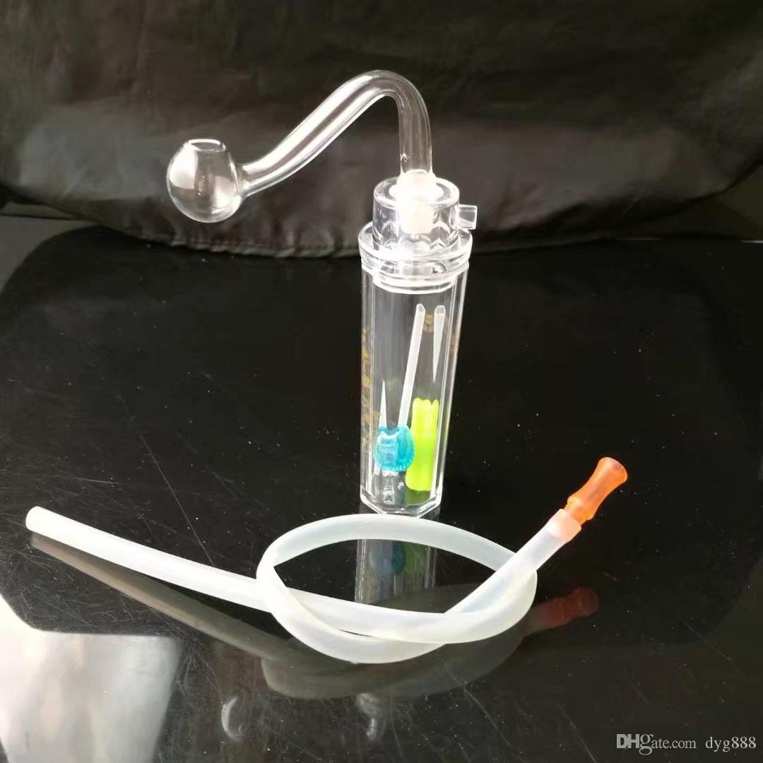 The single hand acrylic Mini Pot Wholesale Glass Hookah, Glass Water Pipe Fittings,