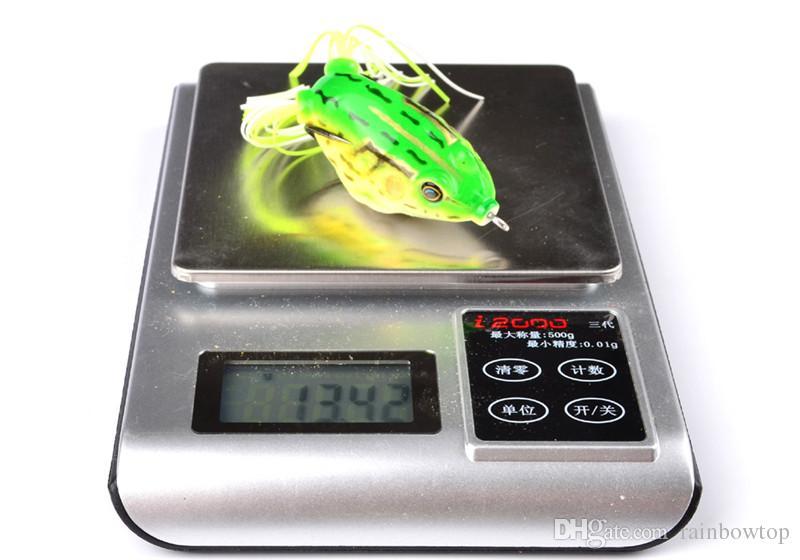 담수어 낚시를위한 8 색 시뮬레이션 레이 개구리 인공 루어 13.5g 6cm 탑 워터 소프트베이스 페스 카바이트