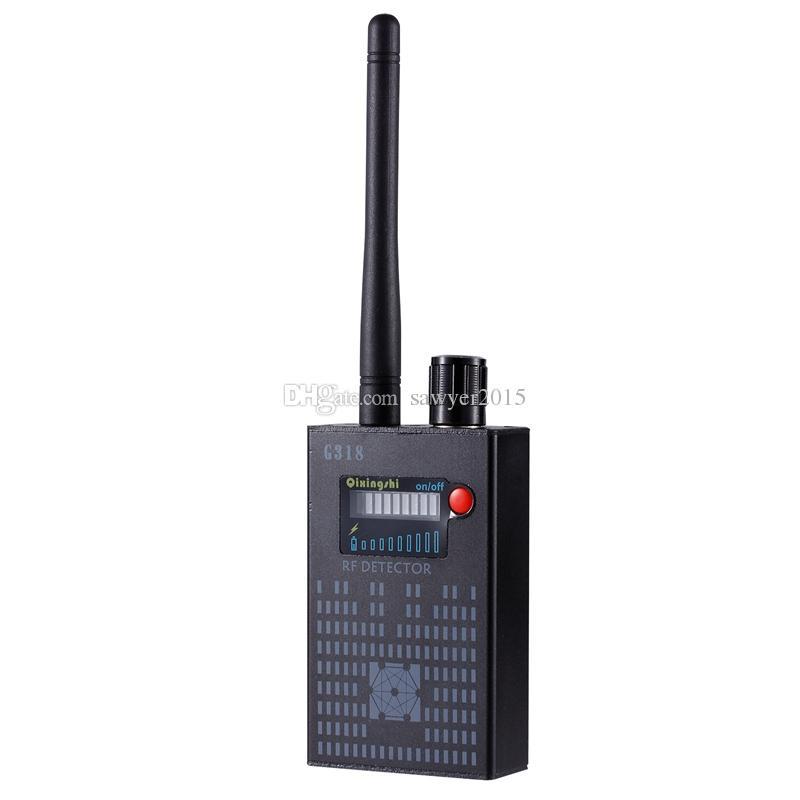 G318 el dedektörü Kablosuz RF sinyal dedektörü CDMA sinyal Dedektörü yüksek hassasiyet tespit Kamera lensi / GPS bulucu Cihaz Bulucu