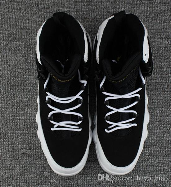 Top Quality Oreo 9 Sapatos de Basquete dos homens Sapatilha Padrão Lichee + Camurça de Couro 9 s trainer Esportes tamanho 41-47
