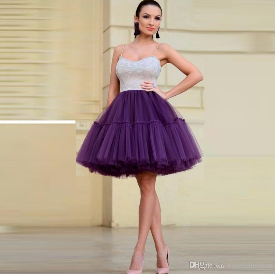 Hot Sale Gray Tulle Skirts A Line Knee Length Simple Tutu Skirt elegant Fashion Three Tulle Layers With One Lining