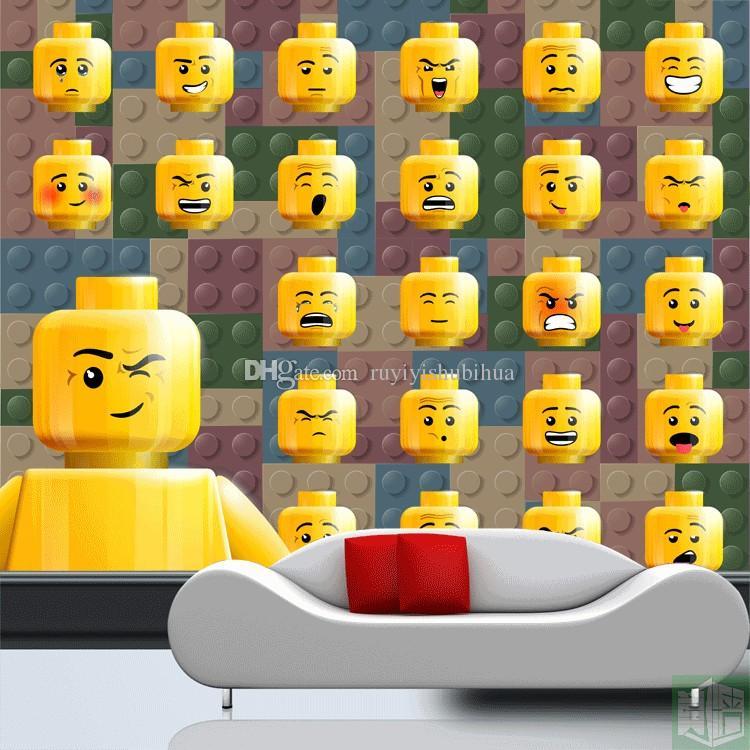 Lego wallpaper for bedroom walls