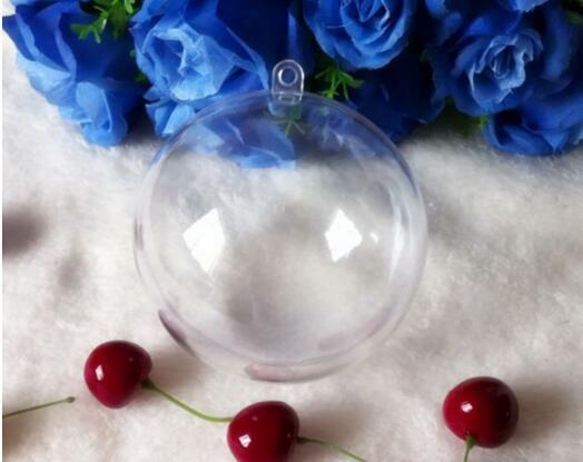 7cm Festive Party Supplies Transparent Boule Suspendue Boule De Noël Boules En Plastique Transparent De Noël Ornements pour la Décoration De Fête De Mariage