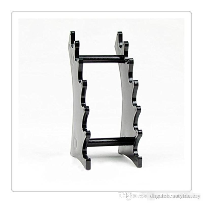 Hot Eyebrow Pen Holder Jewelry Stand Fountain 6 Room Transparent Plastic Pencil Display Frame Stand Rack Holder Organizer