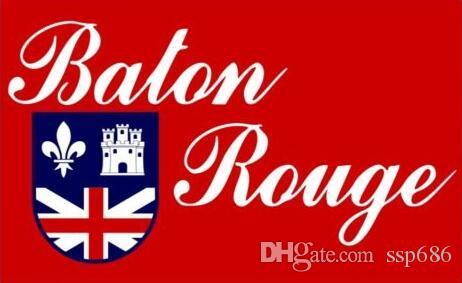 ABD Louisiana Baton Rouge şehir Bayrak 3ft x 5ft Polyester Afiş Uçan 150 * 90 cm Özel bayrak açık