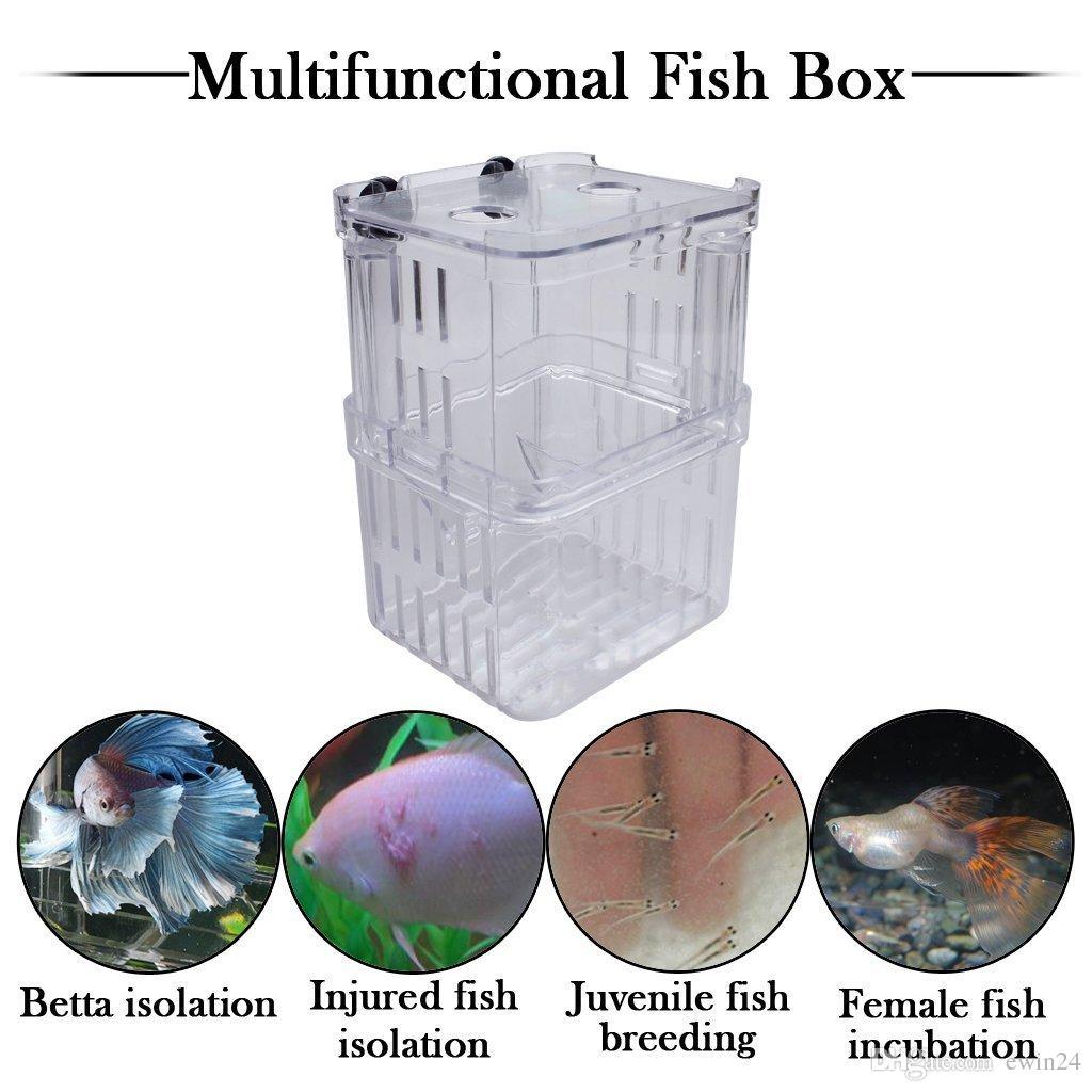 Многофункциональный Рыбоводство Изоляции Коробка Висит Аквариум Аквариум Аквариум Разведение Рыб Инкубатор Плавающей Инкубатор Инкубатор Мини Аквариум Танк