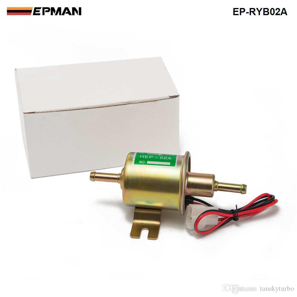 Tansky - EPMAN universal que compite con la bomba 12V Automático Gasolina Diesel Bomba de combustible en línea eléctrica Bomba de combustible HEP-02A EP-RYB02A