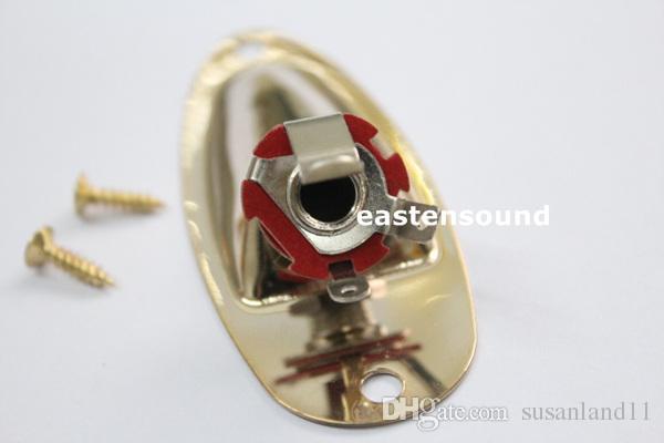 Spedizione gratuita 2 pezzi Gold Boat Style Jack Plate 1/4