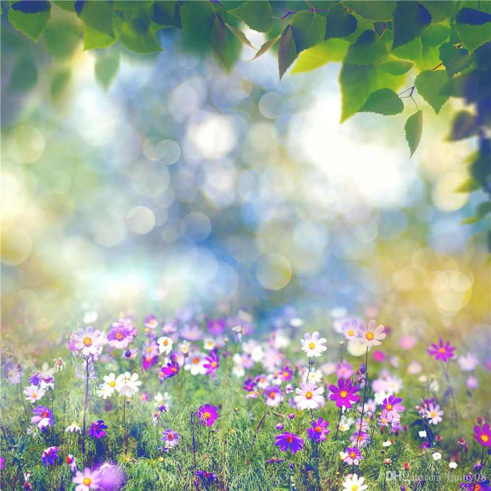 Susu Digital Printing 10x10ft Bokeh Photo Background Pink And White