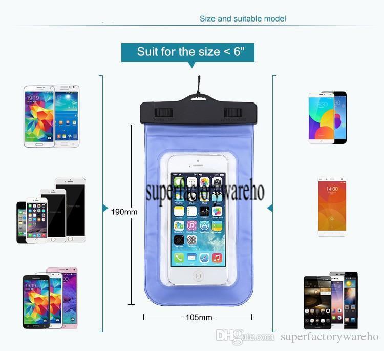 Универсальный водонепроницаемый чехол прозрачный водонепроницаемый подводный мешок сухой мешок чехол для iPhone 7 6 S Plus 5S SE Samsung Galaxy S7 Edge S6
