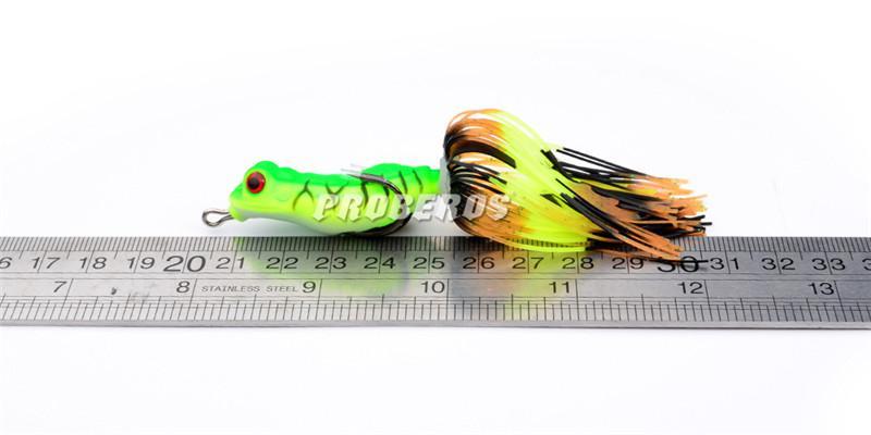 새로운 인공 광선 개구리 미끼 부동 민물 낚시 인공 미끼 8 그램 10 센치 메터 Topwater pesca 낚시 부드러운 미끼