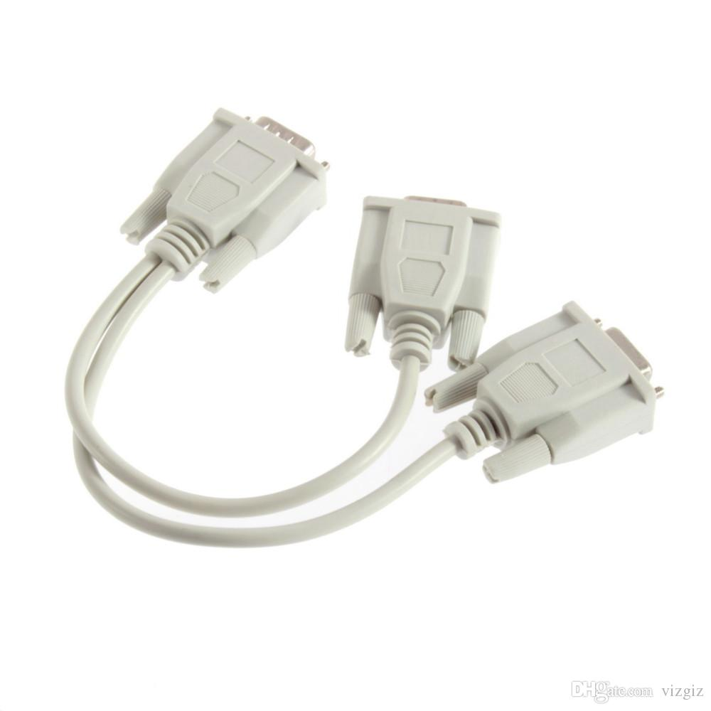 VGA to 2 Monitor Dual Video Way VGA SVGA Graphic LCD TFT Y Splitter Cable Lead