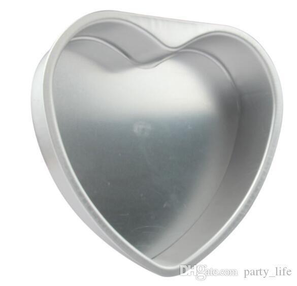 / 5 인치 베이킹 도구 금형 알루미늄 합금 심장 모양 케이크 호퍼 케이크 제빵 도구 스텐실 과자 도구