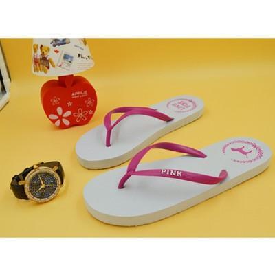 Colors Girls 2017 Flip Flops Love Pink Sandals Pink Letter Beach Slippers Shoes Summer Soft Sandalias Beach Slippers CCA6078