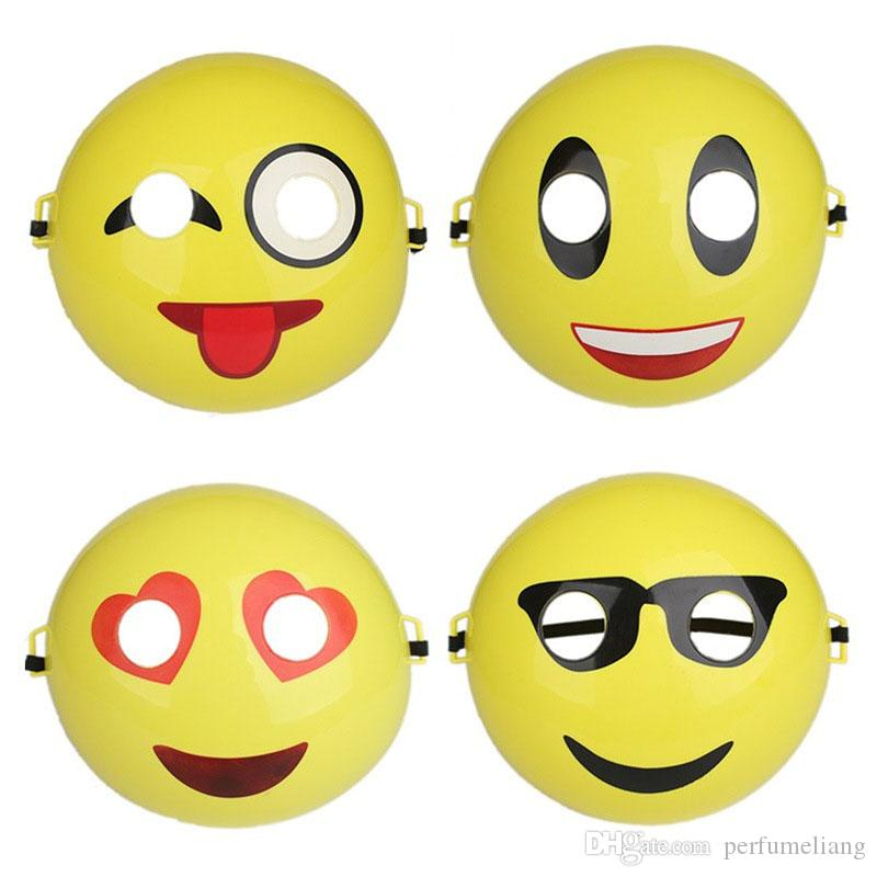 Creative Emoji Smile Mask 3D Plastic Cosplay Festival Party Mask Full Face Costume Prop Funny Toy Halloween Supplies ZA3637