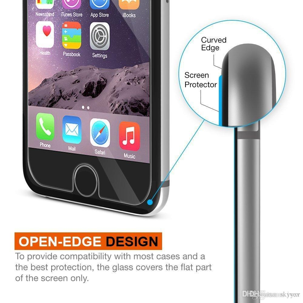 Tempered Glass Screen Protector For Alppe iPhone 4S 5 6Plus 7 Plus Samsung Note 5 S5 6 S7 Protective Film+Tools with retail package Free DHL