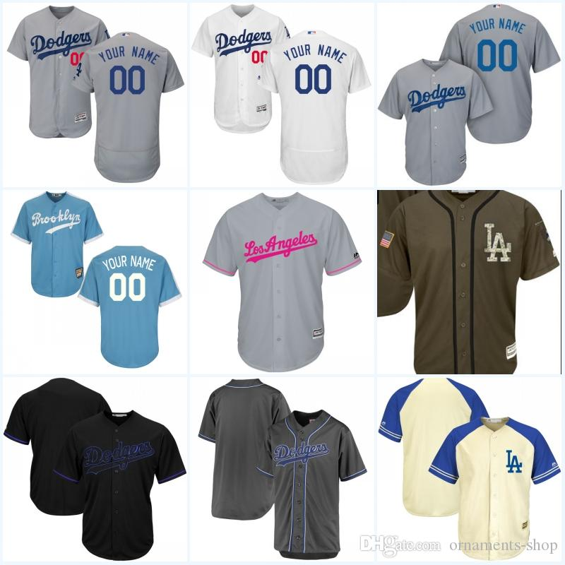 ... sale 2017 mens los angeles dodgers customized jersey flex base cool base  white blue grey stitched f84a31978