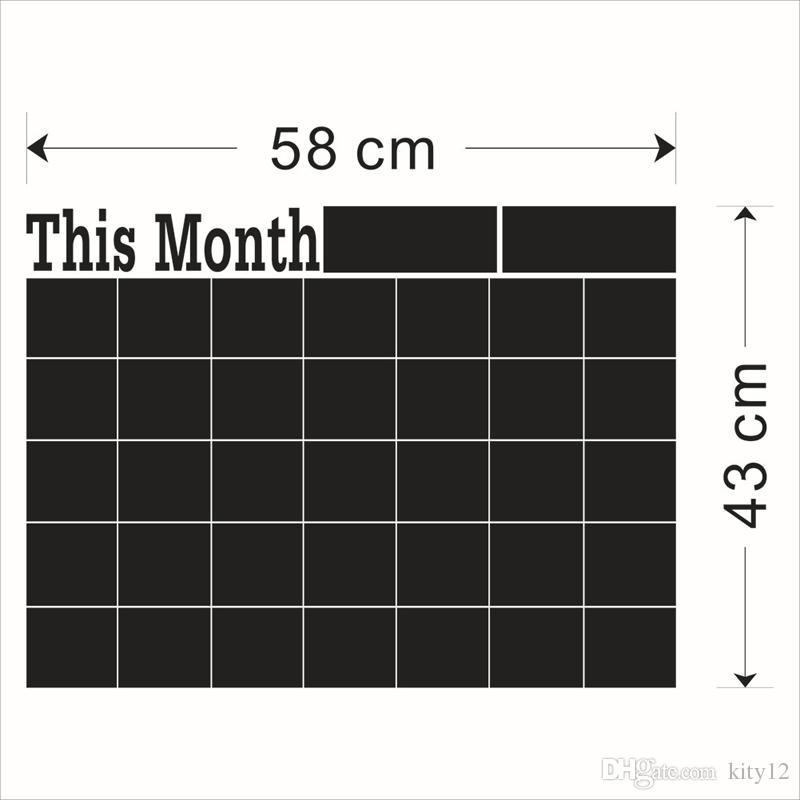 58 * 43 cm 60 * 92 cm 60 * 100 cm Craie Conseil Blackboard Autocollants Amovible En Vinyle Dessiner Décor Mural Stickers Art Tableau Noir Autocollant
