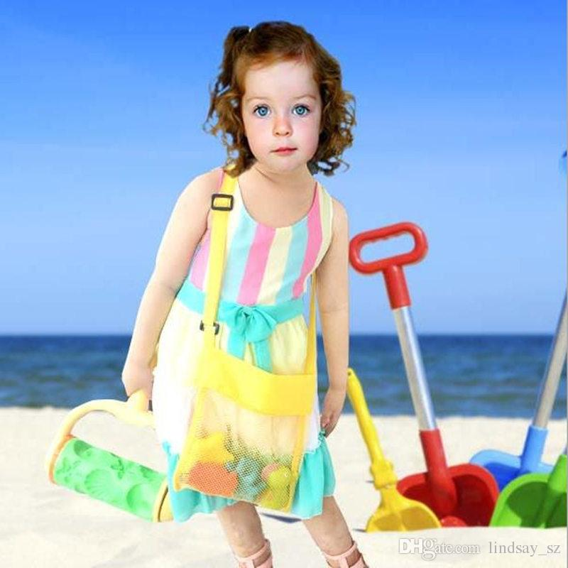 Juguetes para la playa para niños Recibir bolsa de malla Cajones de arena lejos Todo Sand Sandpit Caparazón de almacenamiento Arena neta Playa malla Bolsa