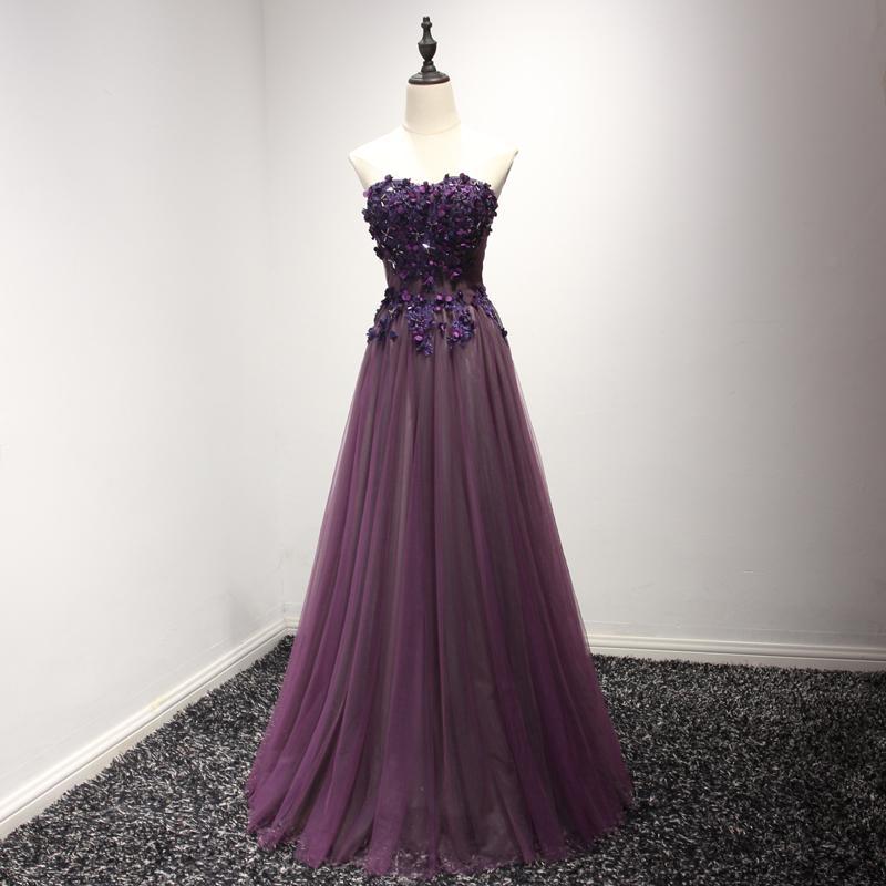 Compre El Vestido De Noche Púrpura Del Nuevo Cordón De Ssyfashion ...