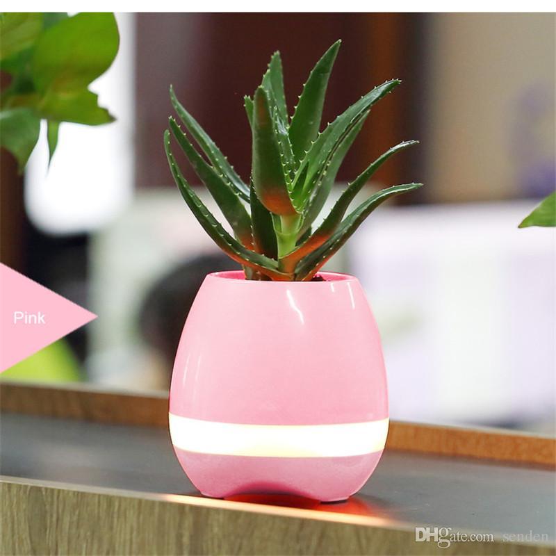 Bluetooth Smart Music Blumentopf Lautsprecher K3 Intelligent Touch Pflanze Klaviermusik Blumentopf mit buntem LED-Nachtlicht-Gartentopf Subwoofer
