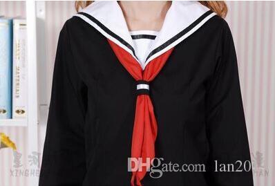 Cehennem Kız Enma Ai Okul Üniforması Cosplay Kostüm Anime Siyah Elbise