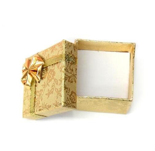 / 5x5x3cm 골드 링 귀걸이 쥬얼리 상자 선물 BX5 포장