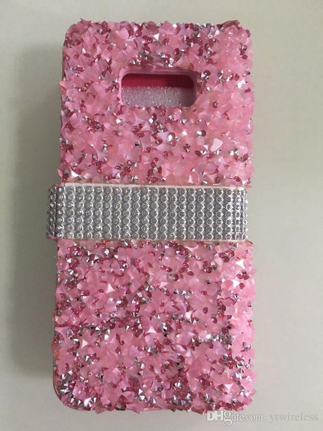 the latest 50262 52d33 For Alcatel Fierce 4 Stellar Tru Dawn 5027 Fierce XL 5054N Bling Rhinestone  Diamond Wallet Case Protective Glitter Hard Cover Card Holder