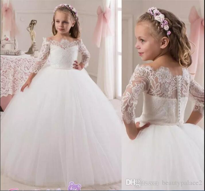 b71adff90 New Joan Calabrese Flower Girls Dresses For Weddings Gowns 3/4 Long ...