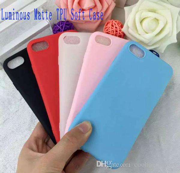 Luminous Matte Soft TPU Case For Iphone 7 Plus 7plus Iphone7 6 6S I6 Huawei P9 Frosted Glow In Dark Silicon phone Skin Cover Luxury