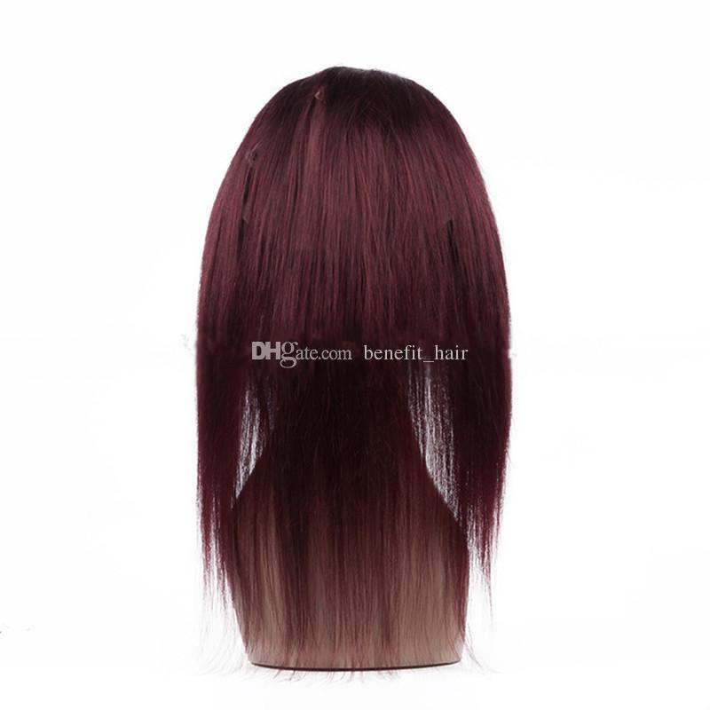 360 Кружева Фронтальная Для Малайзийских Волос Бордовый Красный Цвет Женщин Прямо 22.5x4x2 кружева фронтальная закрытие бесплатная доставка DHL