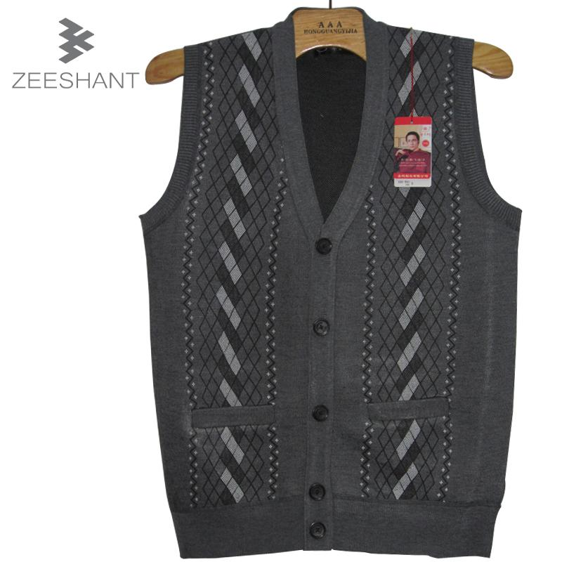 2018 Xxl Sweater Vest Mens V Neck Cotton Sleeveless Sweater Single ...