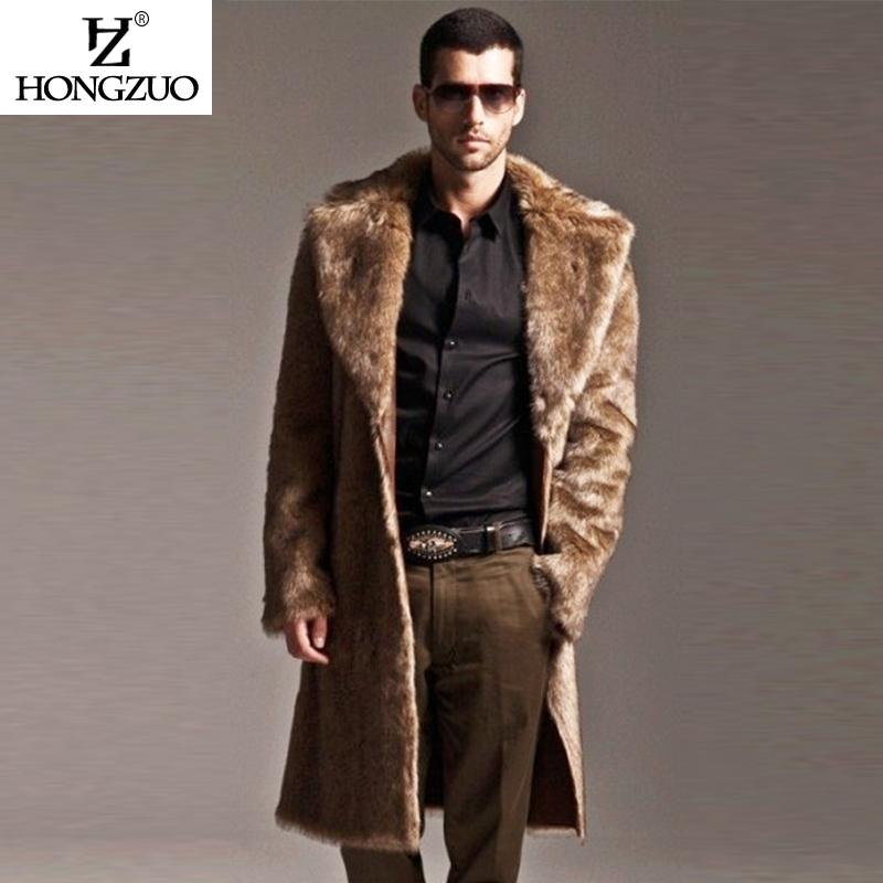 Hongzuo 2017 New Arrival Men Fur Coat Long Parka Winter Fashion ...