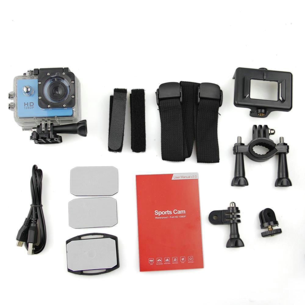 Самая дешевая копия для SJ4000 A9 стиль 2-дюймовый ЖК-экран мини Спортивная камера 1080P Full HD Экшн-камера 30M Водонепроницаемые видеокамеры Шлем спорт DV
