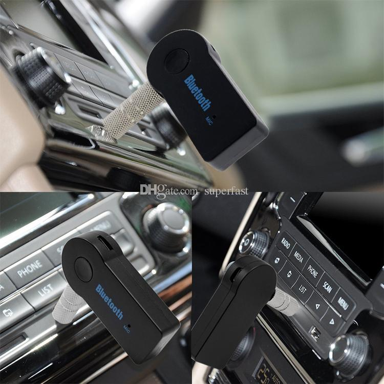 محول سيارة بلوتوث استقبال 3.5mm aux ستيريو لاسلكي USB ميني بلوتوث استقبال الموسيقى الصوتية للهاتف الذكي mp3 مع حزمة البيع بالتجزئة