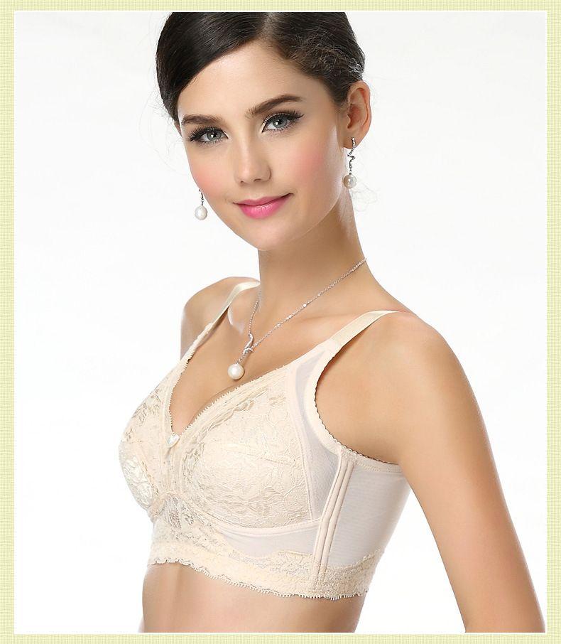 2c5216659f Adorable Plus Size Bras for Women Lace Bralett Brassiere Wirefree ...