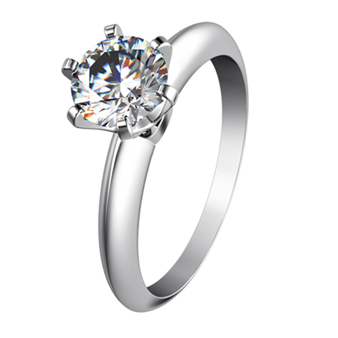 2de2d7b08b7 2019 Elegant 0.6Ct Synthetic Diamond Ring For Women 925 Sterling Silver  Ring White Gold Plated Jewelry Romantic Tryst Gift From Sonadiamondring