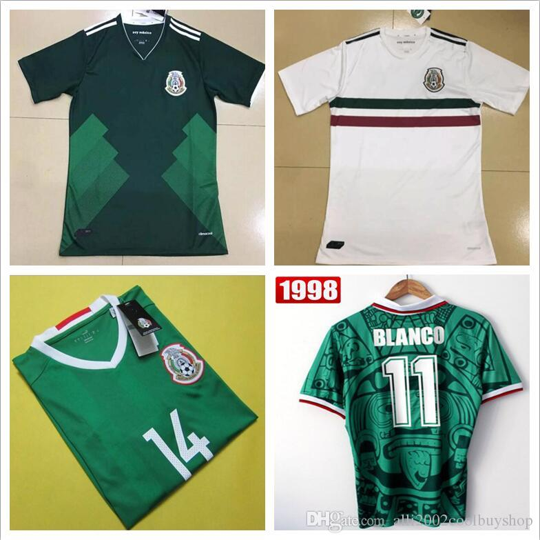 e9b9e5785 ... 2017 Mexico National Team Home Jersey Green White 2016 2017 2018  Camisetas De Mexico Chicharito Javier ...